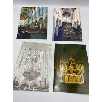 Zestaw 12 szt. pocztówek z wnętrz kościołów
