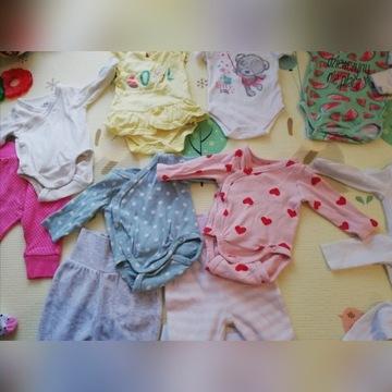 Ubranka dla dziewczynki, r. 56,jak nowe, firmowe
