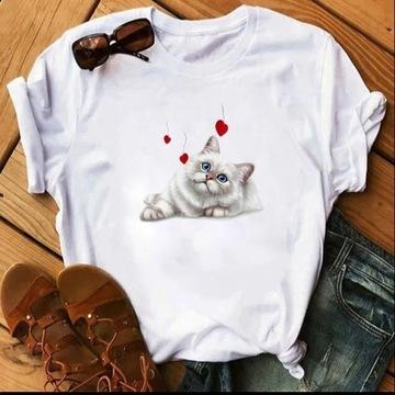 Koszulka t-shirt kot neva Maine coon koty lato