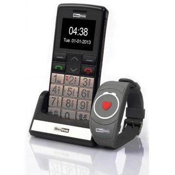 TELEFON DLA SENIORA MAXCOM MM715BB Bransoletka SOS