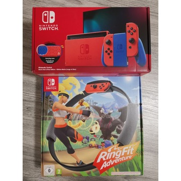 Nintendo Switch Mario Edition +Ring Fit Adventures