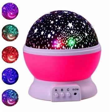 Nocna lampka dla dzieci projektor gwiazd