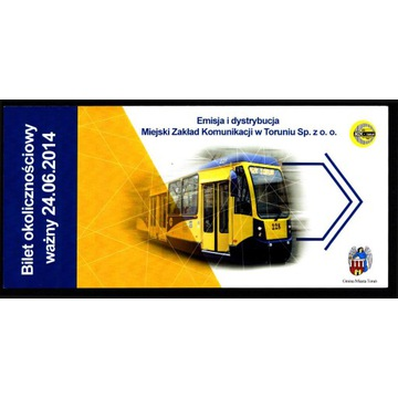 Toruń - Bilet okolicznościowy ważny 24.06.2014