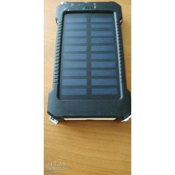 Powerbank Solarny 3,7 8000 mah Bialoczarny