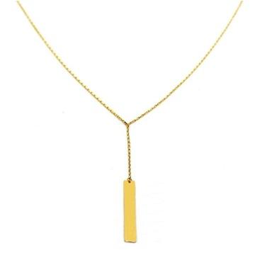 Naszyjnik z blaszką złoty 585