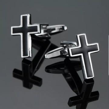 Spinki do mankietów, krzyż, krzyżyk