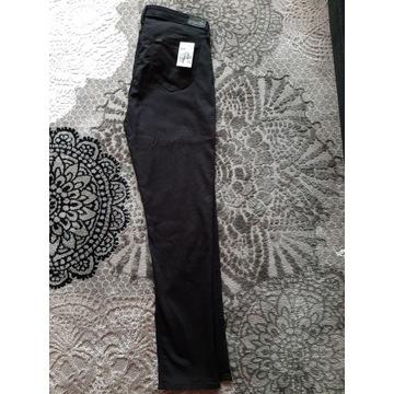 czarne jeansy LEE na wysoką