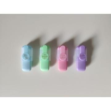 Zestaw 4 sztuki pastelowe mini zakreślacze
