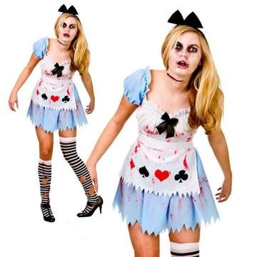 Strój Alicja Zombie Halloween 50-52