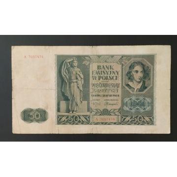 Banknot 50 zł, 1941 , Polska