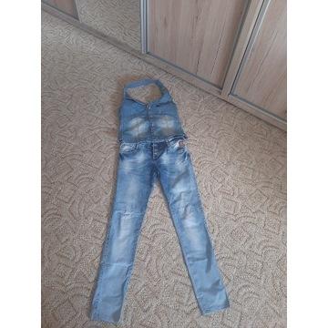 Damskie spodnie jeansowe+ kamizelka