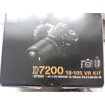 Body NIKON D7200 + obiektyw 18-105 mm f/3.5-5.6