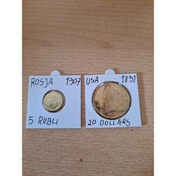 Rosja USA Dwie Monety