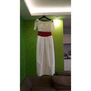 Suknia ślubna z Mikado