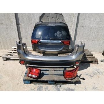Mitsubishi Outlander tył kompletny klapa zderzak