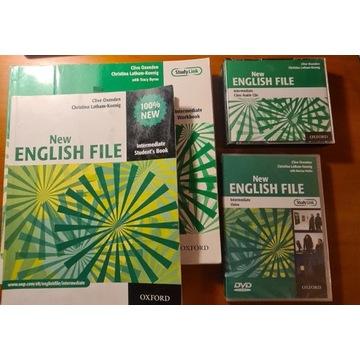 New English File Intermediate ,CD,teacher book,DVD