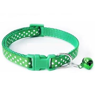 Obroża dla kota lub małego psa - 19-32 cm zielona