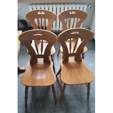 4 szt krzesła PRL vintage. Dobry stan. Solidne