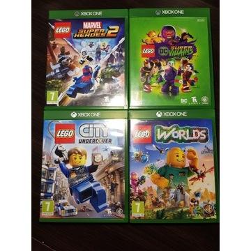 XBOX ONE - Zestaw gier LEGO MARVEL CITY DC WORLDS