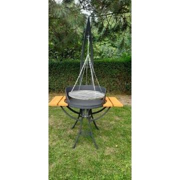 Masywny grill metalowy