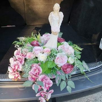 Stroik. Kompozycja nagrobna +GRATIS kwiaty wazon