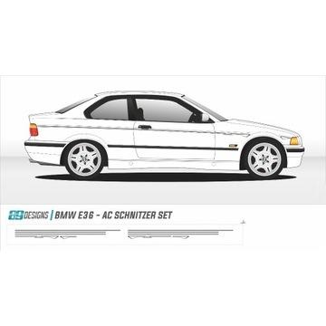 Naklejki dekory BMW E36 - dekor AC Schnitzer bbs