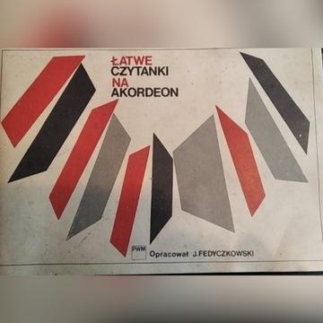 Fedyczkowski J.: Łatwe czytanki na akordeon 1980