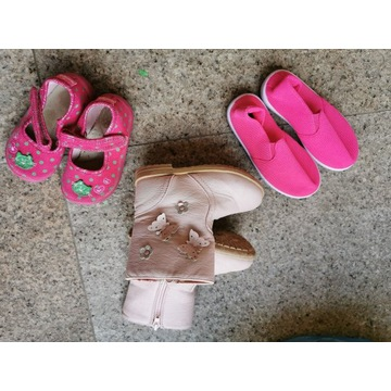 Buciki dla dziewczynki: Botki, trampki, pantofelki