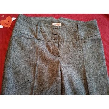 Eleganckie ciemno szare spodnie r.36