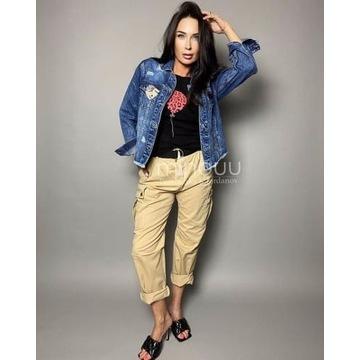 Bawełniane spodnie Minouu Justine beżowe rozmiar S