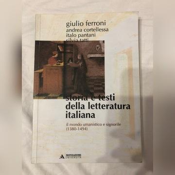 Język włoski storia e testi della letteratura ita