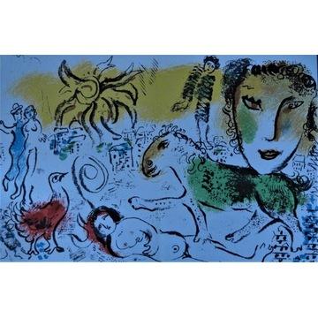 Piękna duża ,oryginalna Litografia Chagalla