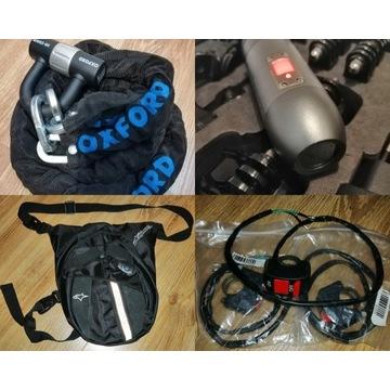 Łańcuch motocyklowy, torba, kamera, zestaw, wys.gr