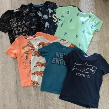Zestaw 8 sztuk koszulek chłopiec RSERVED H&M 116