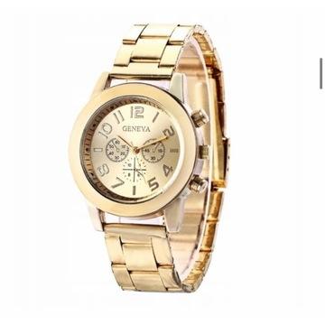 Damski zegarek złoty Geneva. Licytacja od 1 zł