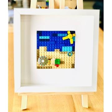 """LEGO_obraz """"Plaża""""_wyjątkowy prezent"""