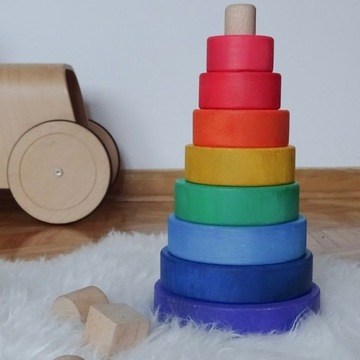 Piramida drewniana Rainbow