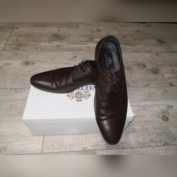 Pantofle wittchen ciemnobrązowe roz. 42