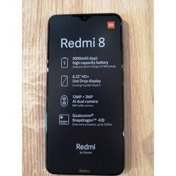 Xiaomi Redmi 8 czarny - (gwarancja 2 lata)