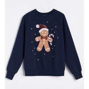 Bluza sweter świąteczny piernik M+ gratis