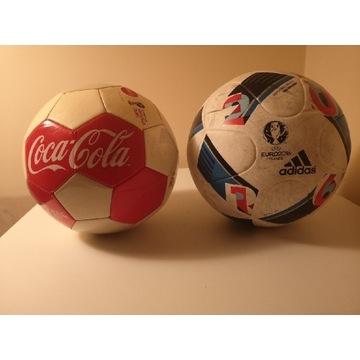 Piłka adidas plus piłka coca cola