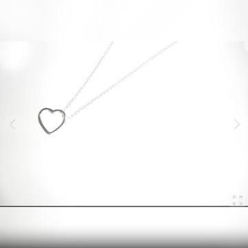 Naszyjnik z zawieszką serce srebro 925 wisiorek