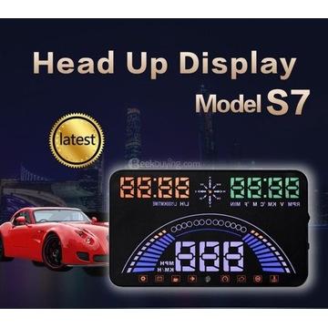 WYŚWIETLACZ PROJEKTOR HEAD-UP HUD OBD2 GPS S7