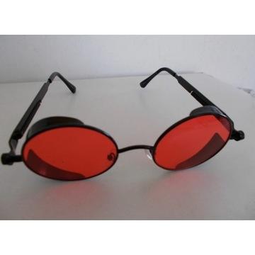 Okulary Lenonki 5 par szkieł SteamPunk Nowe