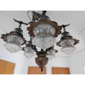 żyrandol lampa  wiszaca miedziana nr 1486 Fiaf