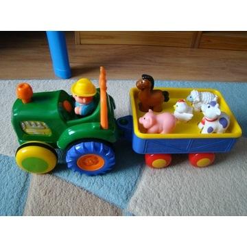 Traktor z przyczepą i zwierzakami z dźwiękiem