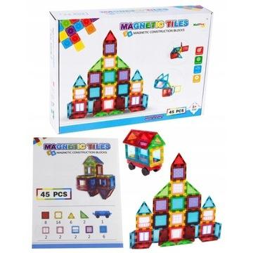 KLOCKI MAGNETYCZNE 3D MAGNETIC 45el Edukacja Y277