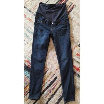 spodnie jeansowe ciążowe H&M mama skinny S