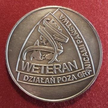 Coin Medal Pamiątkowy Weteranów Irak Afganistan