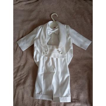 Smoking (zestaw, strój) do chrztu dla chłopca r. S